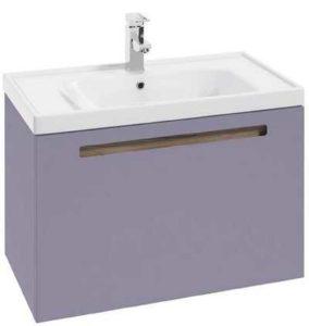 fioletowa szafka łazienkowa